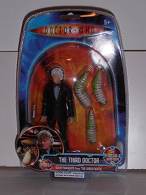 Doctor Who Classic action figure THIRD DOCTOR & GIANT MAGGOTS Sealed EXCLUSIVE