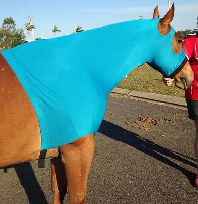 Equipride Lycra hood four way stretch with Zip without ear in Red- Purple-Sky