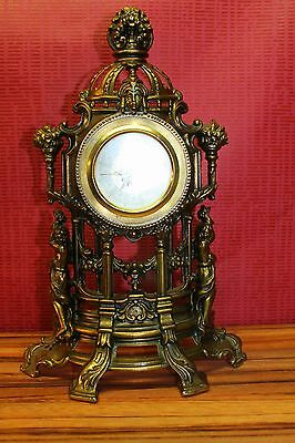 Old Mantel Clock  Bracket Clock * in metal