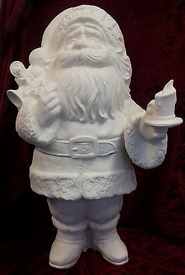 "Paint Your Own Ceramic Bisque -  Very Large two part Santa 23"" tall"