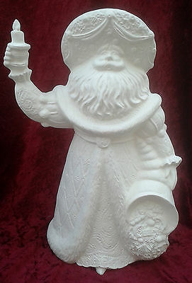 "Paint Your Own Ceramic Bisque - Cornucopia Santa 14"" tall"