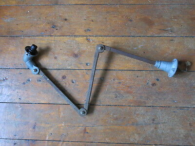 Vintage Industrial Machinist Lamp Arms for Spares, Mek Elek-Dugdills-Invisaflex