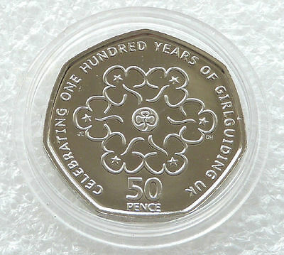 2010 Royal Mint Girlguiding 100th Anniversary 50p Fifty Pence Coin Uncirculated