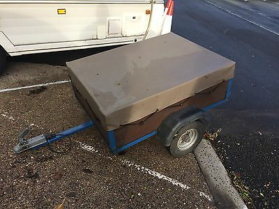 Box Trailer 4ft x 3ft with Rain Cover Perfect Working Order