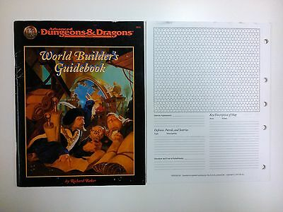 AD&D 2nd Edition World Builder's Guidebook Advanced Dungeons & Dragons TSR