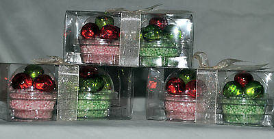 6 x Cupcake Design Bath Pearls Wrapped Individually Gift Set Skin Care/Beauty