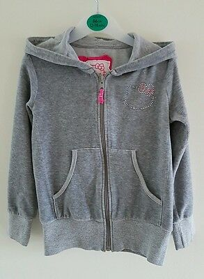 M&S Girls Hello Kitty Grey Velour Tracksuit Top & Joggers Size 5-6 Years *GUC*