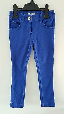 Pretty M&S Girls Blue Skinny Trousers Jeans Size 6-7 Years *VGC*