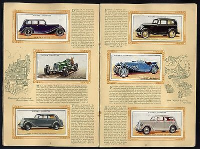 "1936  Players  ""motor   Cars   A   Series""  Complete  Set  (50)  In  Al8Um."