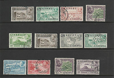 ETHIOPIA nice group of mainly 1950s issues , fine used