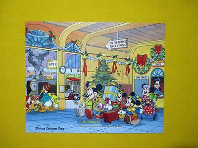 St. Vincent 1988 Disney Mickey Mouse Christmas train MNH stamps 47