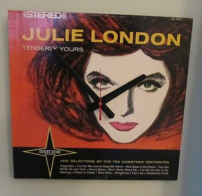JULIE LONDON Album Cover Clock!-Makes a great gift---Free shipping!!