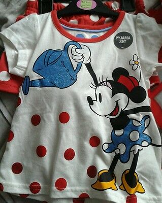 Marks and spencer children's mini mouse pyjama set brand new £10 age 5 -6years