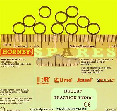 hornby international ho spare hs1187 1x pack traction tyres 8mm approx see list.