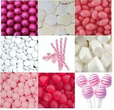 DIY Candy Bar Buffet Pink & White - Bulk Lollies Lolly Wedding Party 4.5kg
