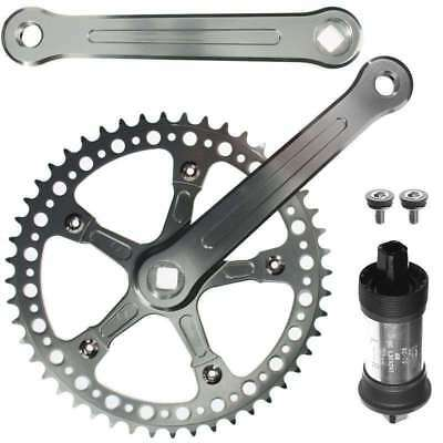 CNC Alloy Fixie Single Speed Crankset With BB 48 Teeth 170mm