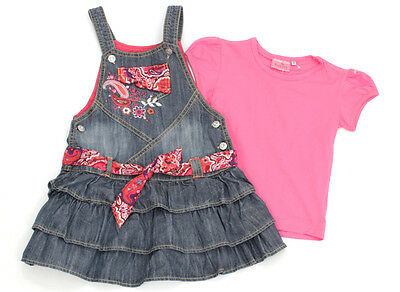 MARKS & SPENCER Jeansträger-Rock und EUROPE KIDS T-Shirt - 110