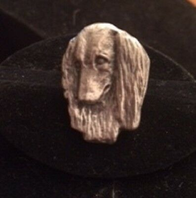 Dachshund Dog RING~Longhair Doxie  headpiece/ adjustable band~pewter 1 Size