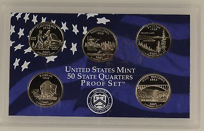 USA 2005 s 5 COIN 50 STATE QUARTER PROOF YEAR SET  - sealed