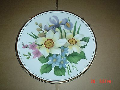 Edwardian Fine China Flowers Collectors Plate