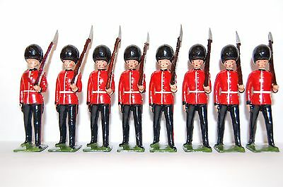 8 Vintage Britains Lead Coldstream Guards Marching