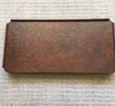Vintage Oak (?) Bed Tray Table/Butler's Tray. Collapsible Legs.