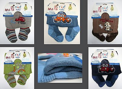 Baby Boys Slip Resistant Cotton Terry Thick Tights Leg Warmers  6 12M 2 3 4Y