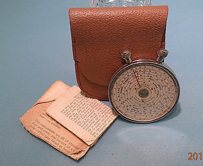 Fowler's Long Scale Calculator - vest pocket model with Leather case