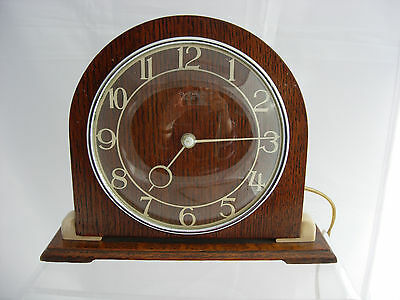 Smiths Art Deco Sectric wood and Bakelite clock