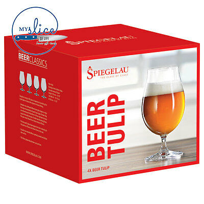 Spiegelau Tulip / Stemmed Pilsner Craft Beer Glass 4 Pack