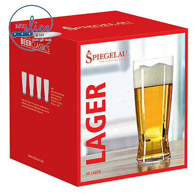 Spiegelau Lager Craft Beer Glass 4 Pack