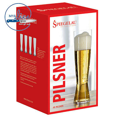 Spiegelau Tall Pilsner Craft Beer Glass 4 Pack
