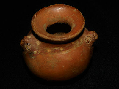 Pre-Columbian Avian Olla Pot, Avian Features, Polycrhome, Authentic