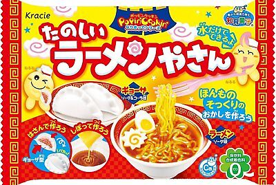 KRACIE POPIN COOKIN RAMEN NOODLES KIT. DIY Japanese candy.Happy Kitchen.Poppin