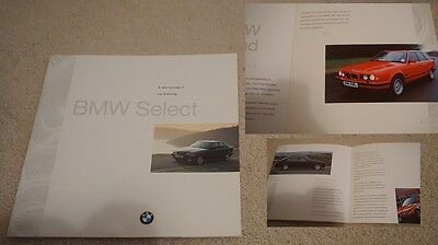 BMW Select Finance Rare 1990s 1995 Brochure 3 5 Series 11 Pages Retro Beamer