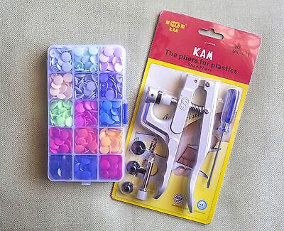 KAM Snap Pliers + 150 Set Plastic Snap Press Stud For Cloth Diapers/PUL/Baby Bib