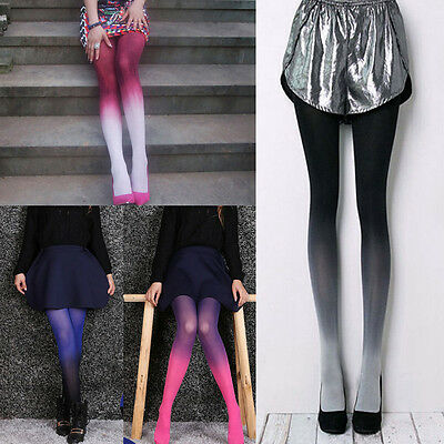 Fashion Sexy Women Girl Gradient Color Velvet Stockings Pantyhose Tights Socks