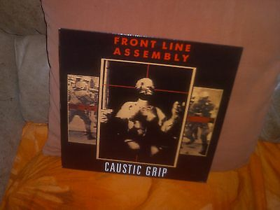 Front Line Assembly 'Caustic Grip' LP(1990) Third Mind Records, England TMLP 60.