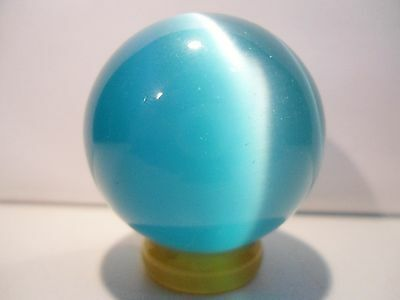 Blue Cat's Eye Sphere w/stand. For Confidence.