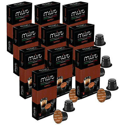 100 Nespresso Compatible Coffee Pods Capsules NAPOLI STRONG Italian Coffee