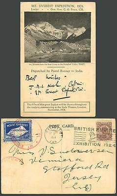 Tibet Everest Expedition Base Camp Rongbuk B Empire Exhibition 1924 Old Postcard