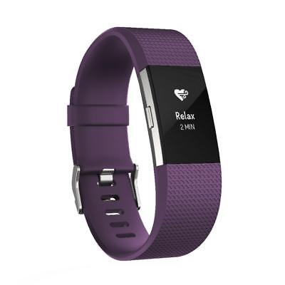 Fitbit Charge 2 HR Activity Tracker Sleep Fitness Monitor Wristband Plum Large