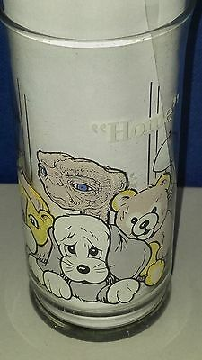 """E.T. Collector Series Pizza Hut Drinking Glass """"HOME"""" 1982"""