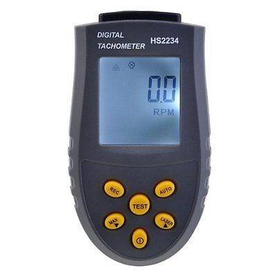Digital Laser Tachometer LCD RPM Test Small Engine Motor Speed Gauge Tool Meter