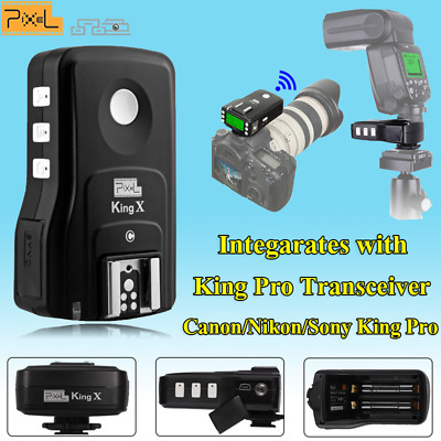 Pixel King X RX 2.4G Wireless TTL Flash Trigger Receiver USB Upgrade for Canon
