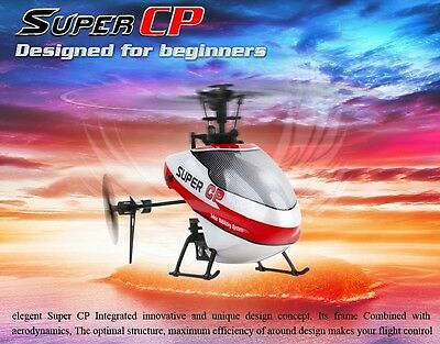 New 2.4Ghz Mini 3D Walkera Super Cp Flybarless 3 Axis Gyro 6CH RC RTF Helicopter