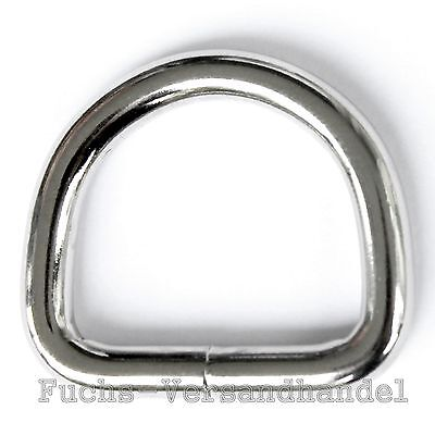 D-Rings 10,16,20,25mm,30,40,50 mm Half round STEEL ring D Metal