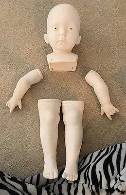 """Large 'Baby Crystal' Greenware Doll - D. Rubert. 24"""""""