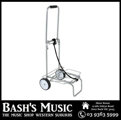 Lightweight Trolley Folds Flat Music Equipment for Small Amps + PA Load 50kg NEW