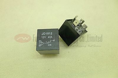 JD1912 Automotive Relay 12VDC 40A Without Holder Tail x 2pcs